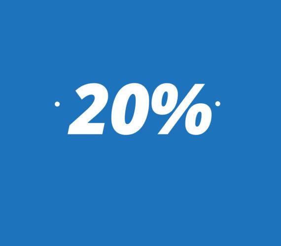 20% descompte per reserves a partir de 7 nits