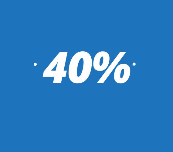 40% descompte per estades llarga durada