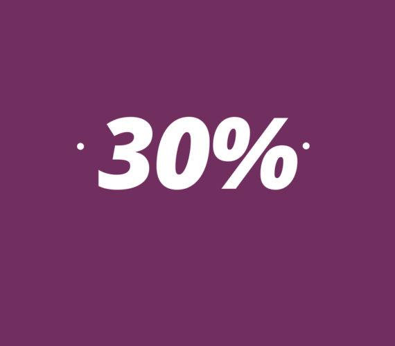 30% descompte per reserves a partir de 14 nits
