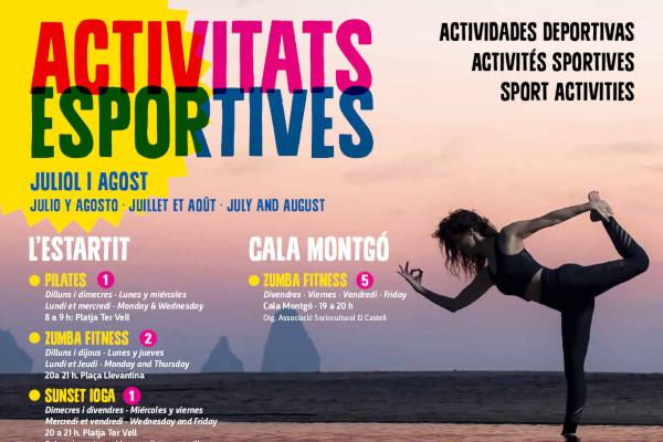 Nova agenda d'activitats esportives per als mesos de juliol i agost – Juliol 2019
