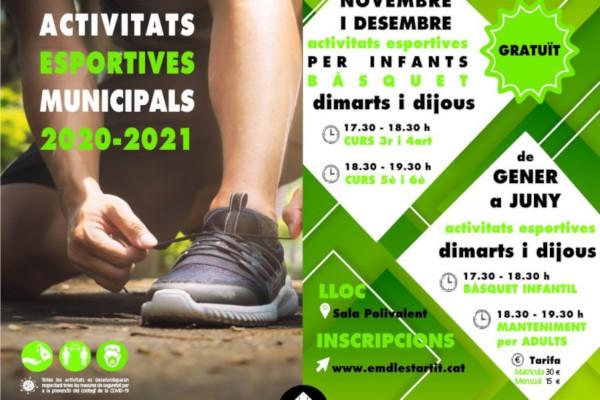 Activitats esportives municipals a l'Estartit 2020-2021 – Novembre 2020