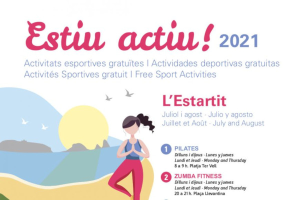 Estiu actiu! Activitats esportives juliol i agost a l'Estartit – Juliol 2021